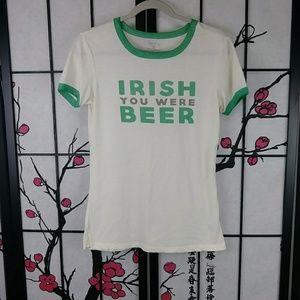 🌼 Zoe + Liv Irish Drinking Ringer Tee St Patricks
